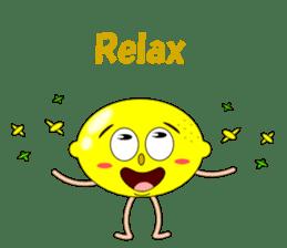 Conversation with lemon English sticker #4764298