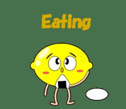 Conversation with lemon English sticker #4764300