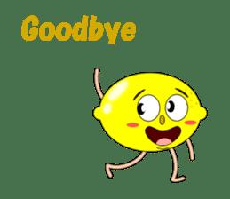 Conversation with lemon English sticker #4764303