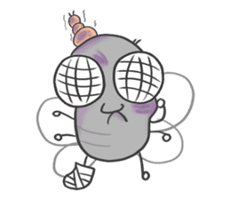 Poo Poo Housefly sticker #4765744