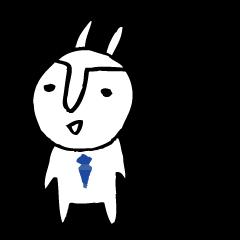 An office worker of rabbit.