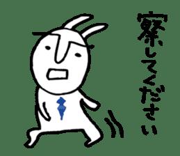 An office worker of rabbit. sticker #4766467
