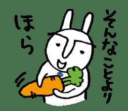 An office worker of rabbit. sticker #4766470