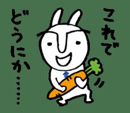 An office worker of rabbit. sticker #4766471