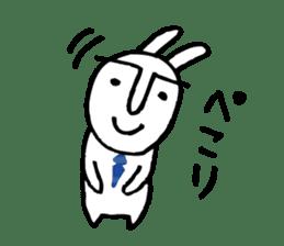 An office worker of rabbit. sticker #4766473