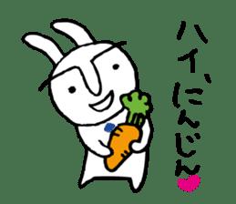 An office worker of rabbit. sticker #4766474
