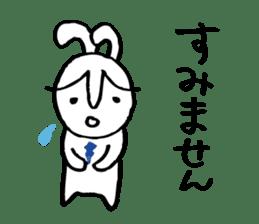 An office worker of rabbit. sticker #4766478
