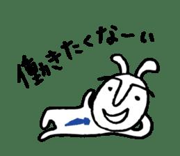 An office worker of rabbit. sticker #4766481
