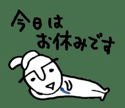 An office worker of rabbit. sticker #4766482