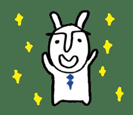 An office worker of rabbit. sticker #4766484