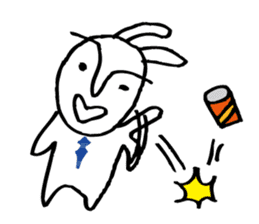 An office worker of rabbit. sticker #4766488
