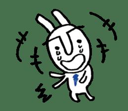 An office worker of rabbit. sticker #4766489