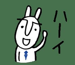 An office worker of rabbit. sticker #4766495