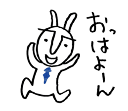 An office worker of rabbit. sticker #4766496