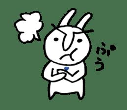 An office worker of rabbit. sticker #4766498