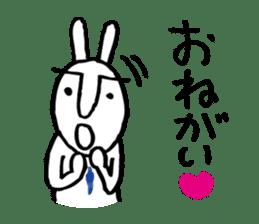 An office worker of rabbit. sticker #4766500