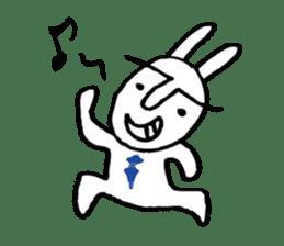 An office worker of rabbit. sticker #4766501