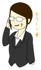 Job hunting support Sticker sticker #4766902