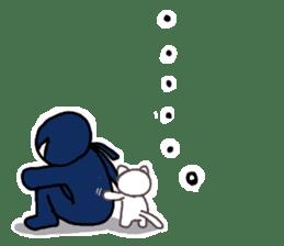 Ninja and cat sticker #4768927