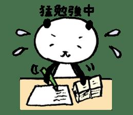 Studying Pandas sticker #4770682