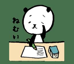 Studying Pandas sticker #4770684