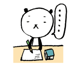 Studying Pandas sticker #4770685