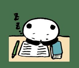 Studying Pandas sticker #4770686