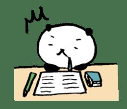 Studying Pandas sticker #4770687