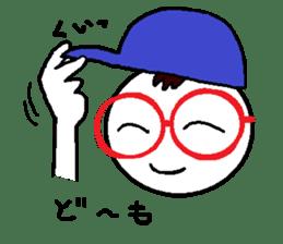 glasses's red frame sticker #4771151