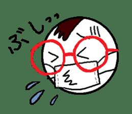 glasses's red frame sticker #4771158