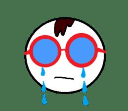 glasses's red frame sticker #4771162