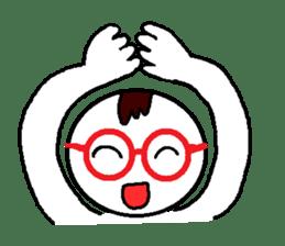 glasses's red frame sticker #4771176