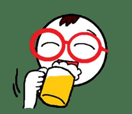 glasses's red frame sticker #4771179