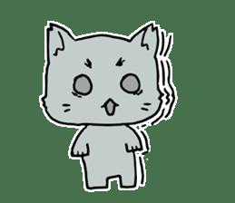 A white cat,a little,little bird sticker #4771628