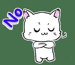 A white cat,a little,little bird sticker #4771635
