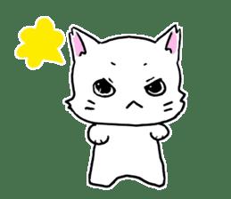 A white cat,a little,little bird sticker #4771661