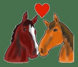 Sticker of horse lovers sticker #4772470