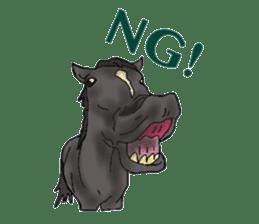 Sticker of horse lovers sticker #4772476