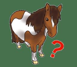 Sticker of horse lovers sticker #4772478