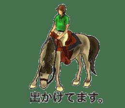 Sticker of horse lovers sticker #4772482