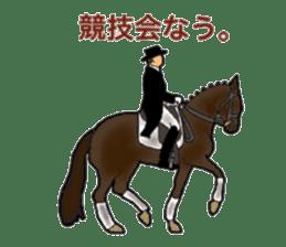 Sticker of horse lovers sticker #4772499
