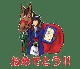 Sticker of horse lovers sticker #4772502
