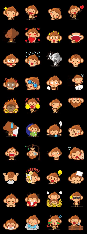 สติ๊กเกอร์ไลน์ ลิงชิกิผู้น่ารัก! ( version 2)