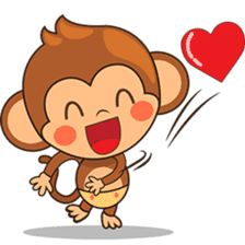 Chiki the cute monkey version 2 sticker #4773507