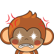 Chiki the cute monkey version 2 sticker #4773516