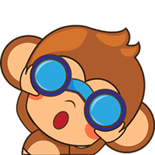 Chiki the cute monkey version 2 sticker #4773517