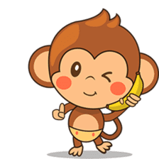 Chiki the cute monkey version 2 sticker #4773522