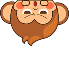 Chiki the cute monkey version 2 sticker #4773523