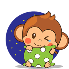Chiki the cute monkey version 2 sticker #4773525