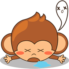 Chiki the cute monkey version 2 sticker #4773526